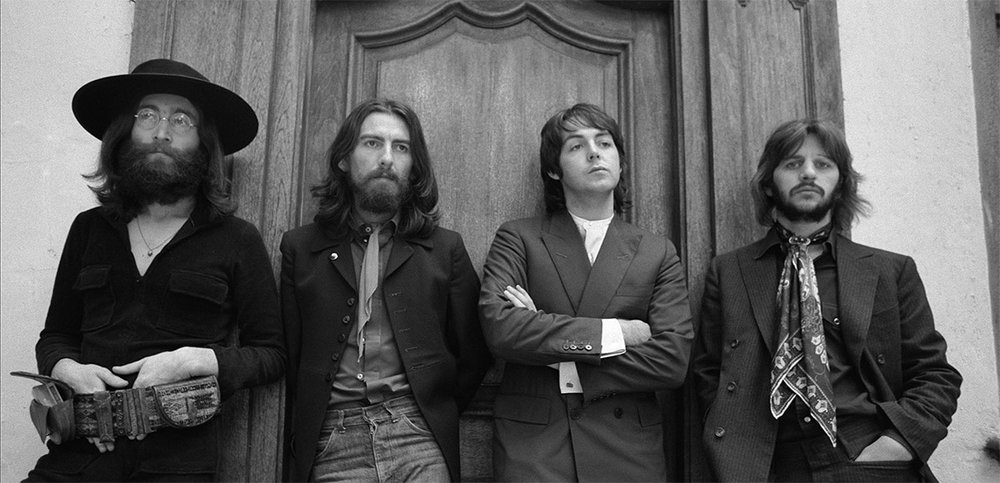 Ethan Russell's iconic photograph of The Beatles' final photo session