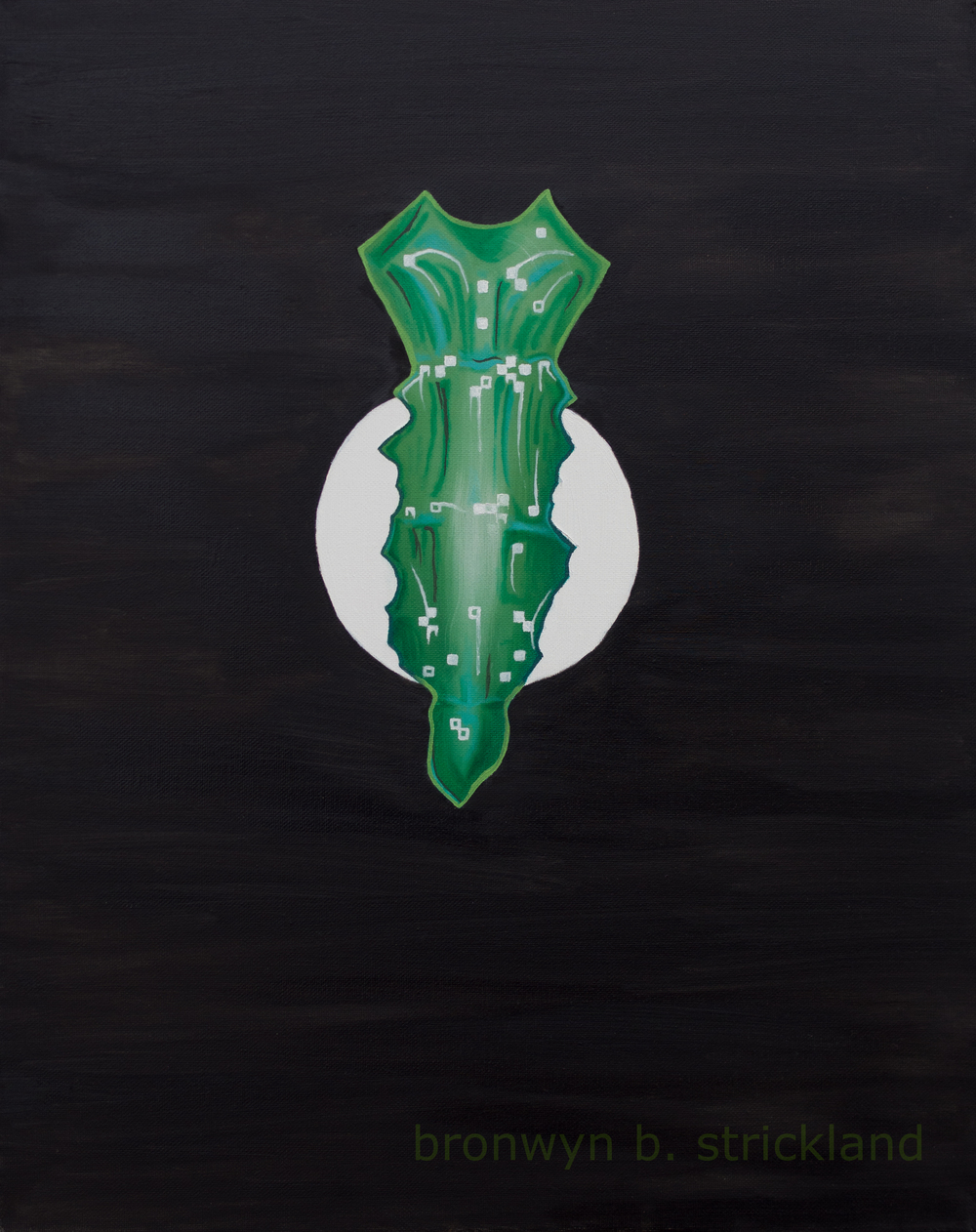 """""""Preservation"""" No. 4 in the Sternum series  2014, Oil on canvas 20"""" x 24"""" with frame"""