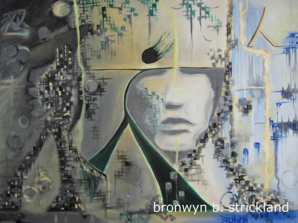 """Modern Ninja"" No. 1 in the Ninja series  2012, Oil on canvas 24"" x 18"""