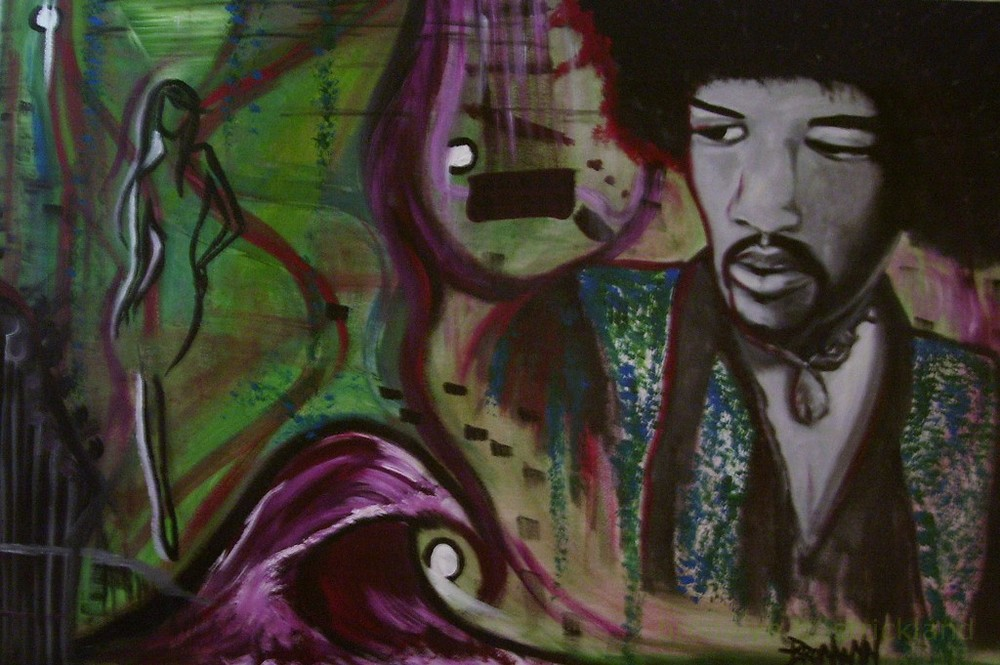 """Jimi""  2008, Acrylic on canvas 24"" x 18"""