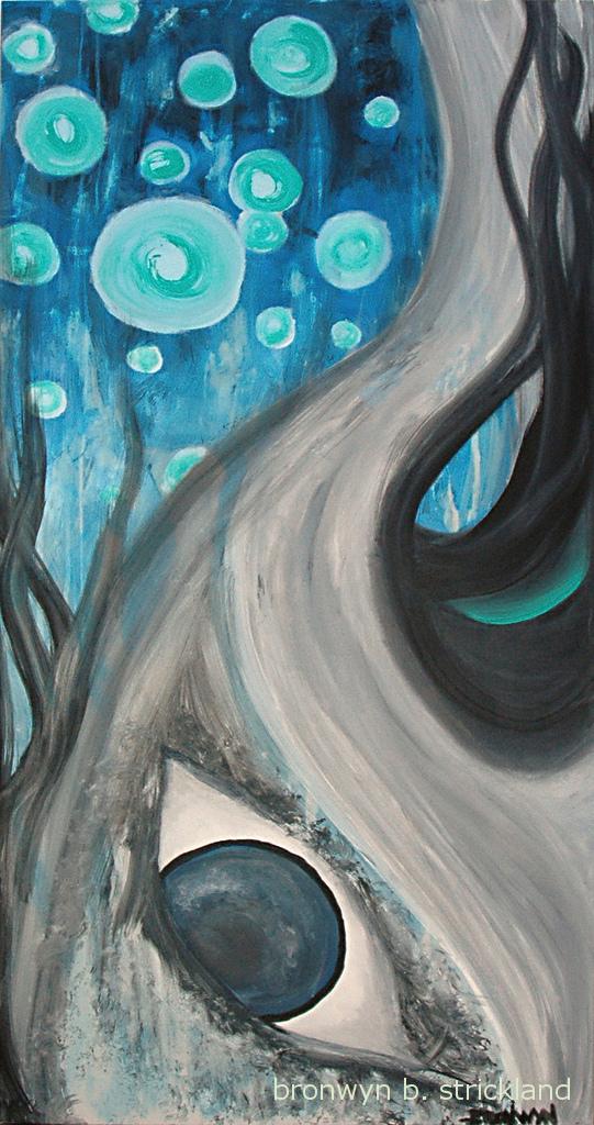 """My Tree""  2008, Acrylic on canvas 24"" x 48"""
