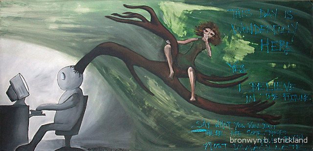 """To Be Myself""  2007, Acrylic on canvas 48"" x 24"""