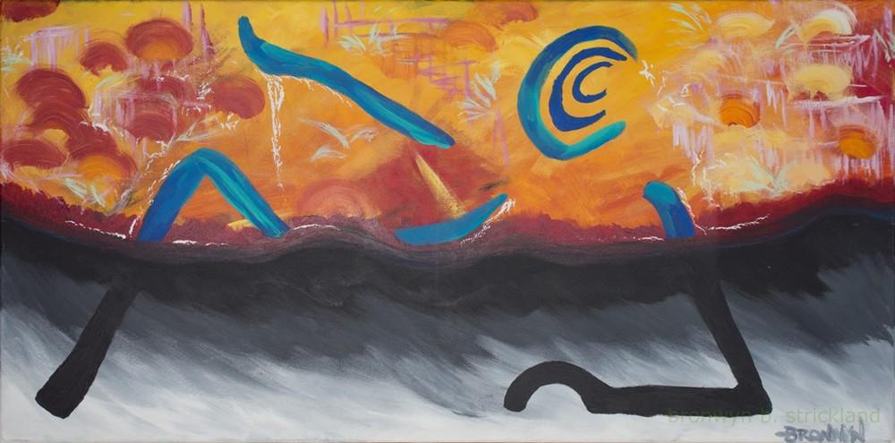 """When You Listen""  2005, Acrylic on canvas 48"" x 24"""