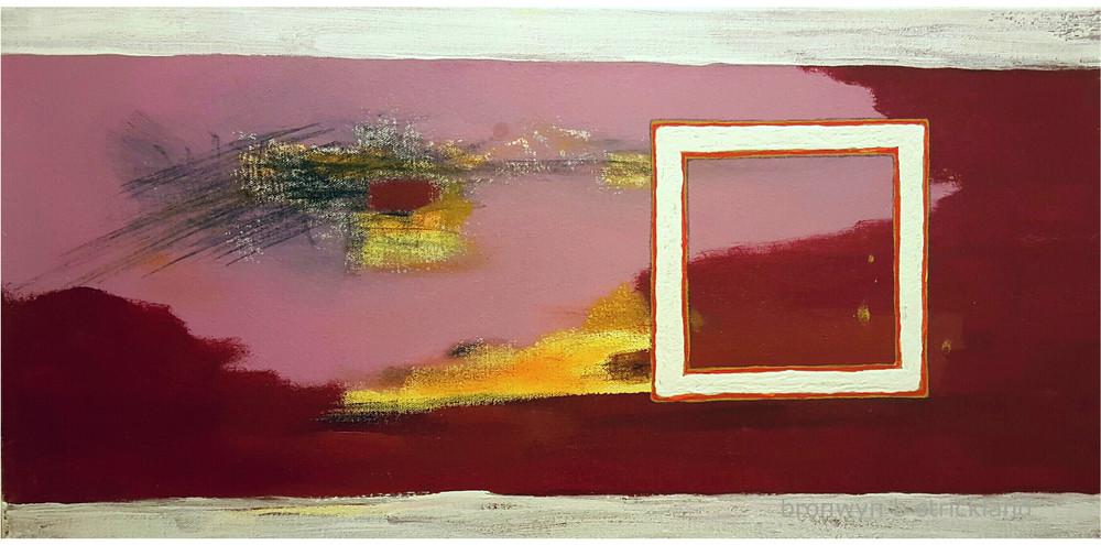 """Self-Control""  2015, Mixed media on canvas 24"" x 12"""