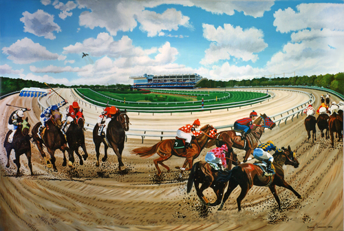 Aqueduct Race Track 36in. x 24.25in..jpg