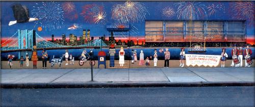 Brooklyn Bridge Fireworks 40in. X 16.75in..jpg