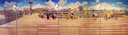 Coney Island Boardwalk 42in. X 11in..jpg