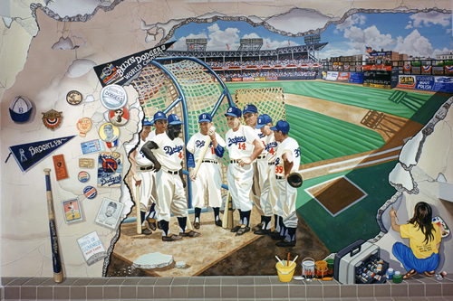 Ebbets Field and The Brooklyn Dodgers 36in. X 24 in..jpg
