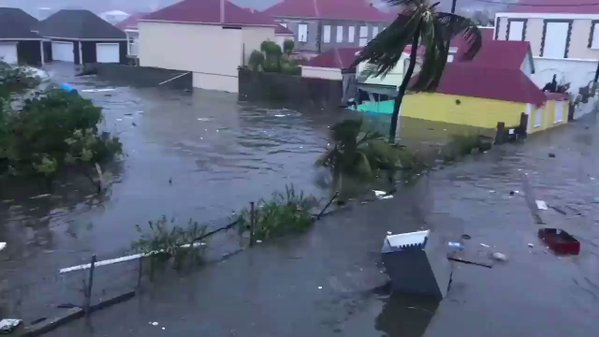 The effects of Hurricane Irma on Guadeloupe. Photo: The Guardian
