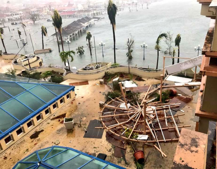 Devastation caused by Hurricane Irma. Photo: Daily Express