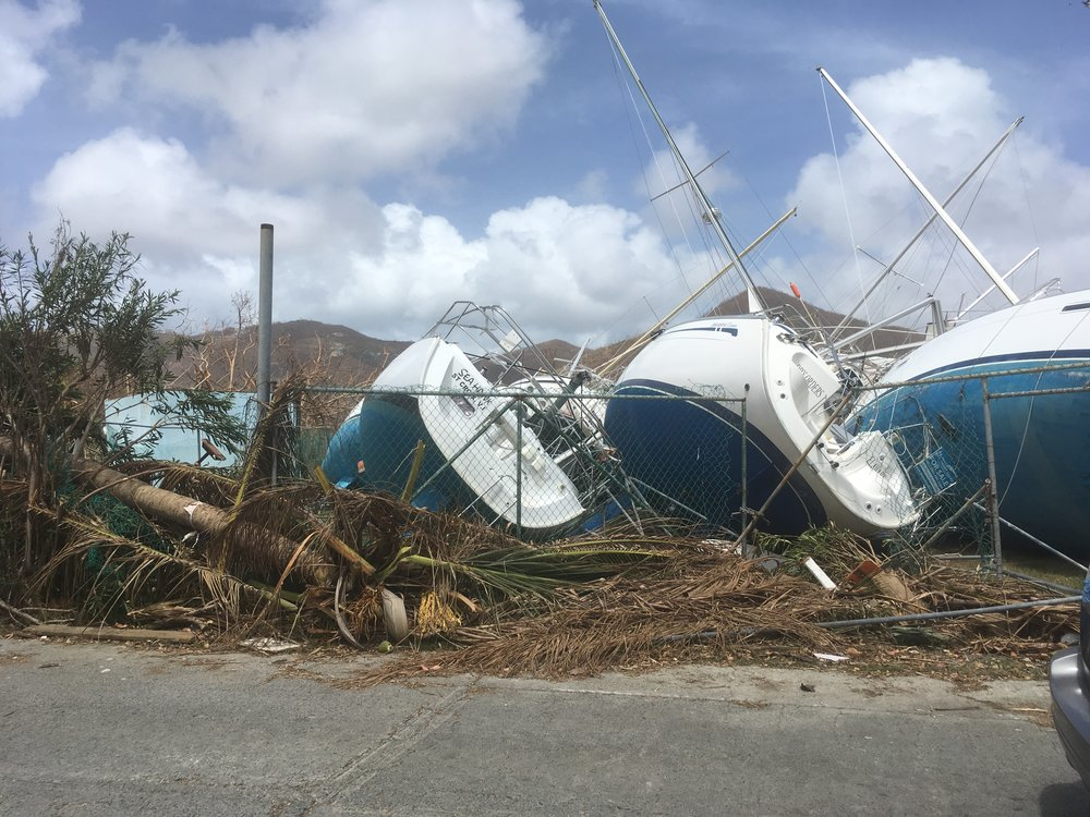 Wrecked yachts on Tortola.