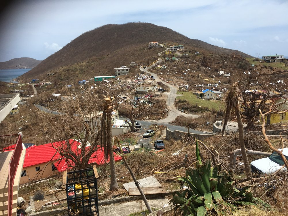 The devastated community of North Sound on Virgin Gorda.