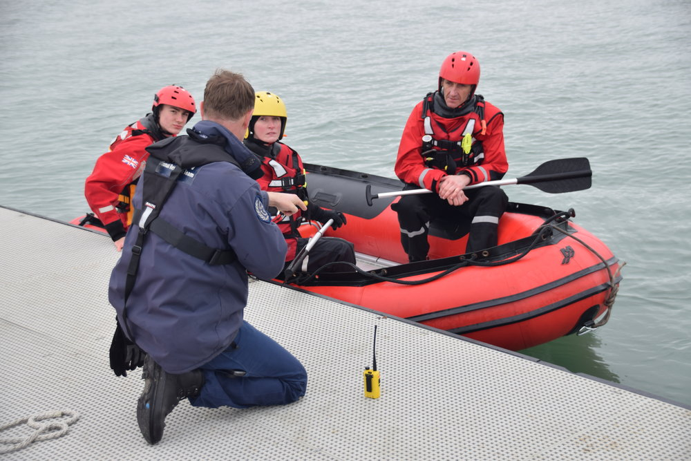 Volunteers from Serve On's International Response Team and Community Resilience Teams practice their flood rescue techniques @HaylingIslandSC
