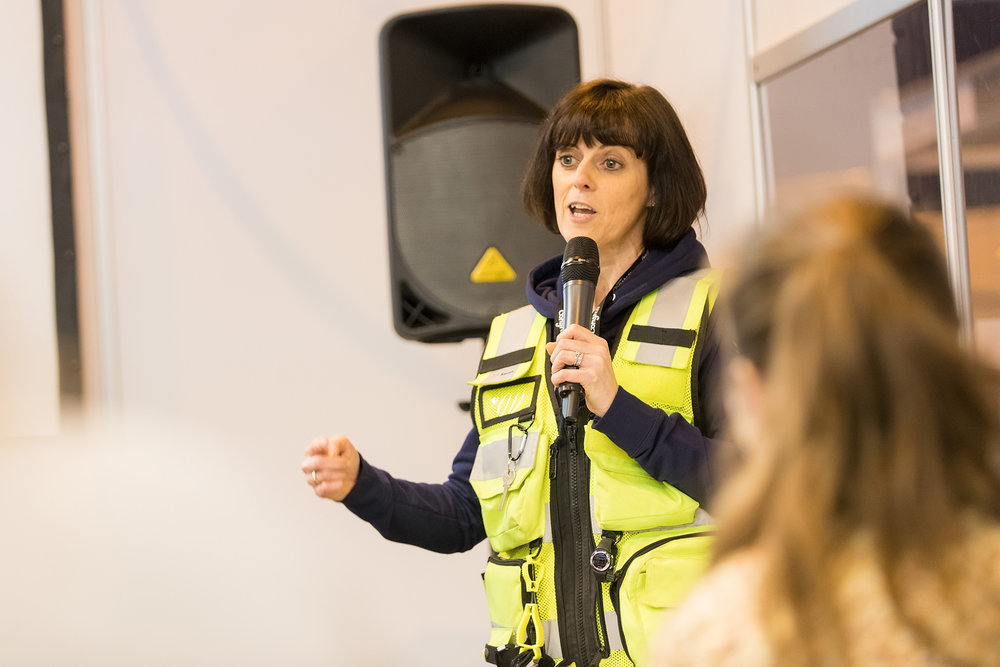 Serve On International Response Team member Sarah Weller told veterinary delegates at the BSAVA Congress in Birmingham about the work of our charity alongside members of the K9 team. Picture by Paul Clarke Photography