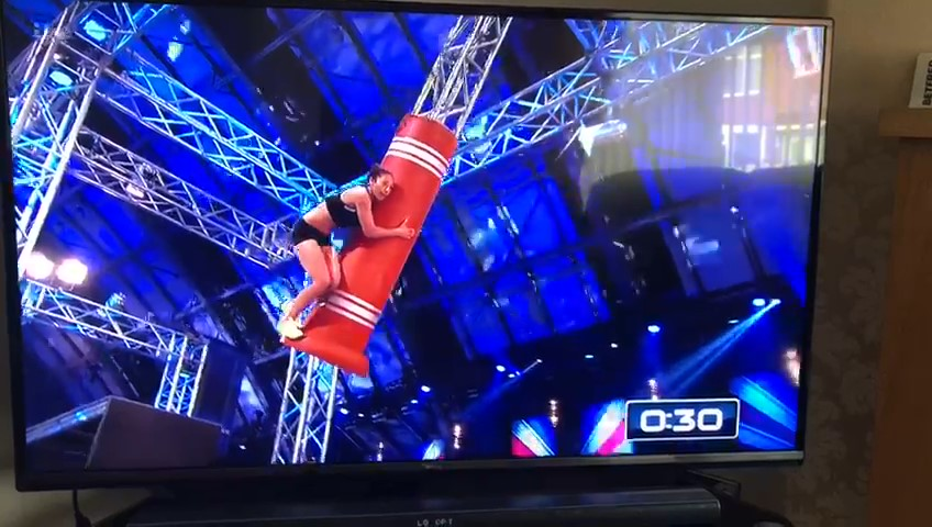 Serve On International Response Team recruit Dionne tackles the Tic Toc obstacle on ITV's Ninja Warrior UK show.