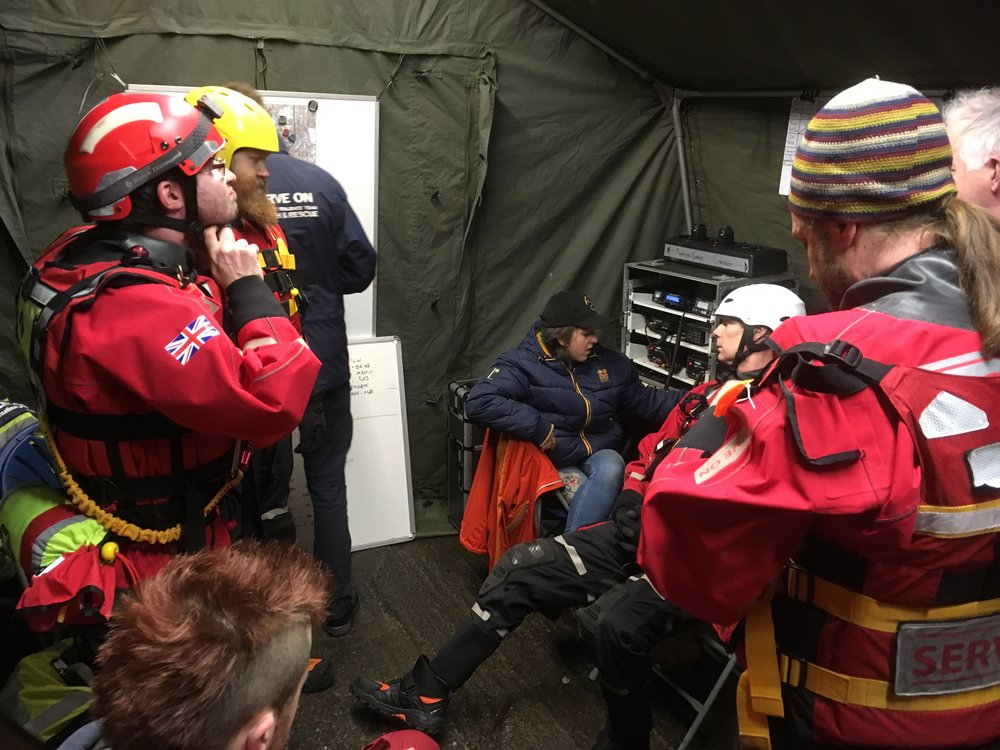 Jazz manning the radio during one of Serve On's deployments to Bath, either side of Christmas,when our teams patrolled the River Avon along with SARAID's Avon CRT as part of the 'Don't Drink And Drown' campaign.