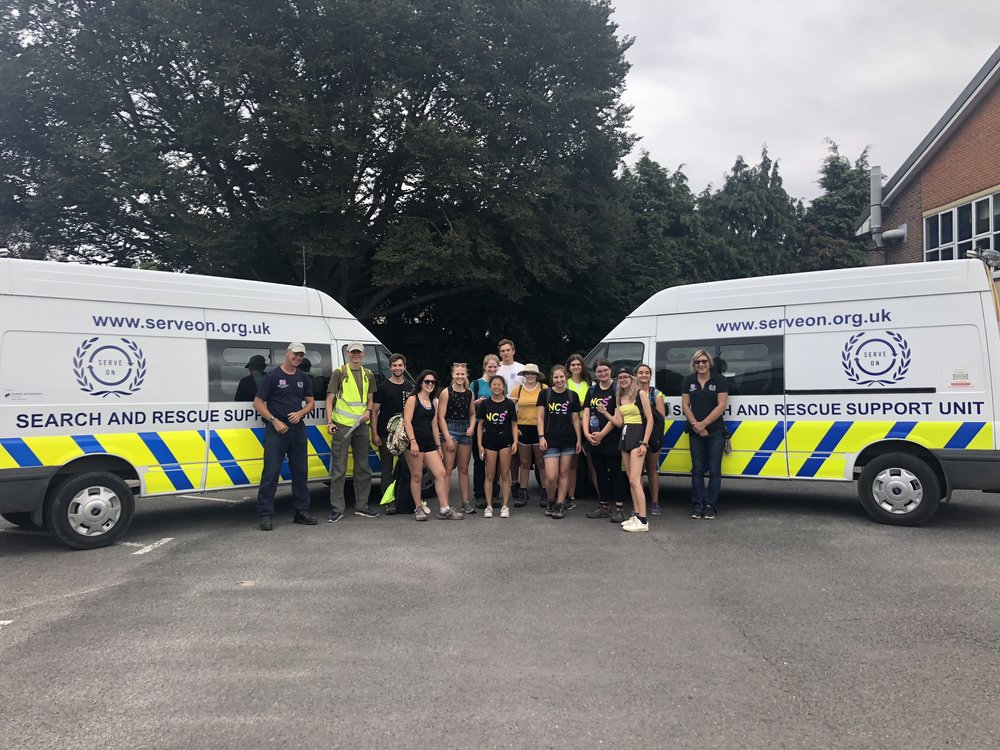 The Team 7 NCS youngsters and their leaders successfully walked the 10 miles from Stonehenge to Salisbury, with transport and safety support from Serve On volunteers, in order to raise money for Headlight.