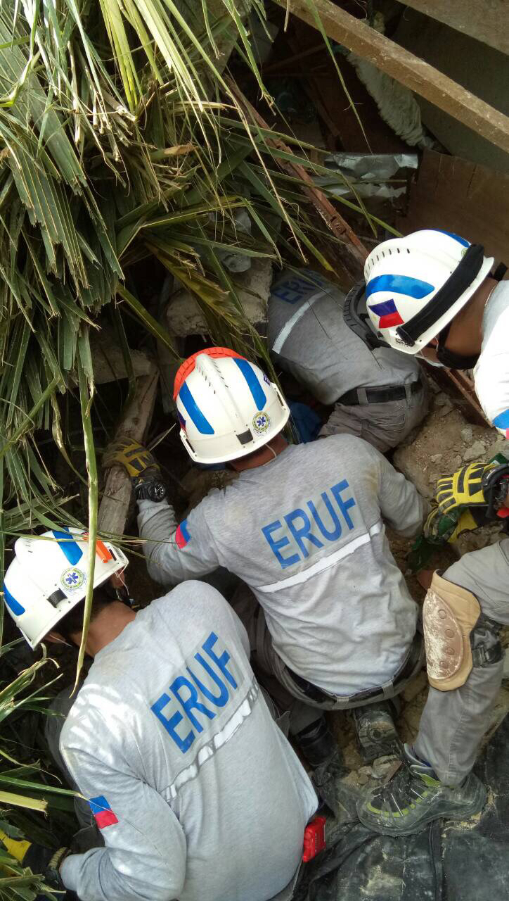 Serve On's friends from the Emergency Response Unit Foundation (ERUF) on Cebu have been trying to find survivors of a massive landslide near Naga city.