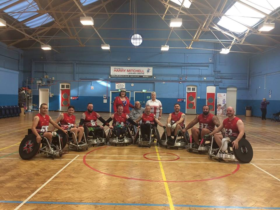The silver medal-winning Team UK wheelchair rugby squad, including Serve On International Response Team member Pete Dunning, before the Invictus Games in Sydney.