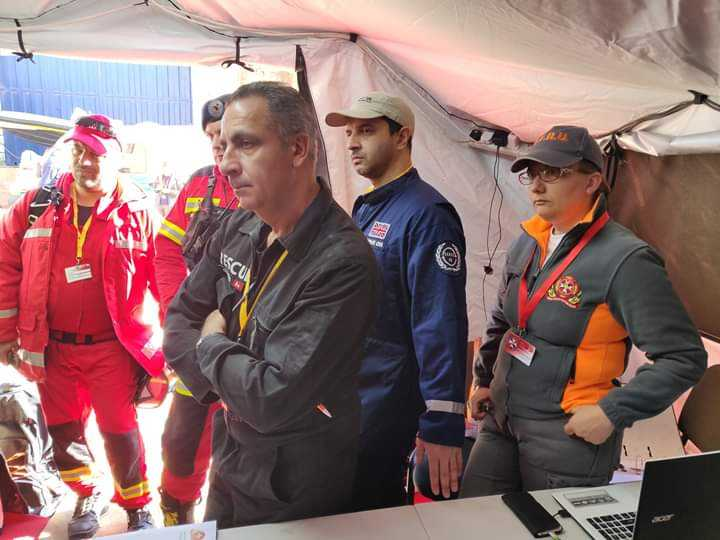 Serve On International Response Team volunteers Sarah Weller and Abbas Dhanani took part in the Simulex 19 disaster response exercise with colleagues from EVOLSAR, hosted by the EFRU in Malta.