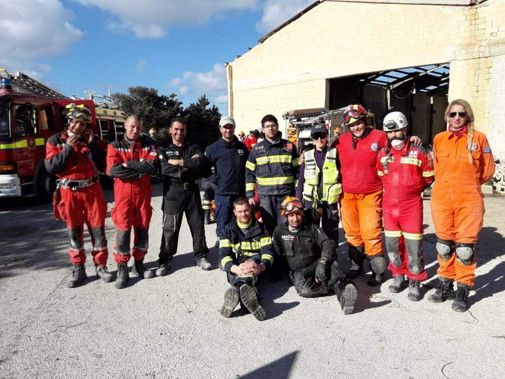 Serve On International Response Team volunteers Sarah Weller and Abbas Dhanani took part in the Simulex 19 disaster response exercise with colleagues from EVOLSAR, hosted by the EFRU in Malta