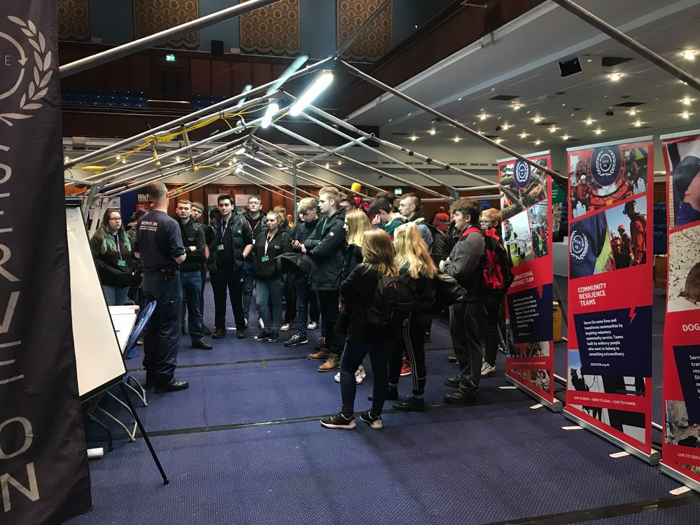 Visitors to the Emergency Response Open Day at Portsmouth Guildhall, part of the annual Simex series, learned about the Volunteer Agency (Coordination) Cell (VAC) that Serve On is pioneering.