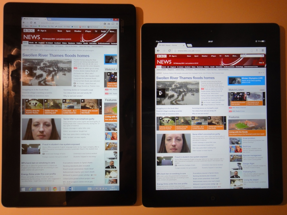 In portrait, the iPad's aspect ratio makes a lot of sense