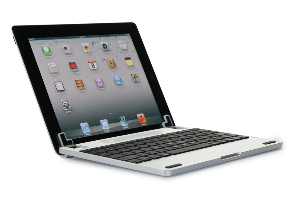 The Brydge+ is a premium aluminium keyboard for iPad