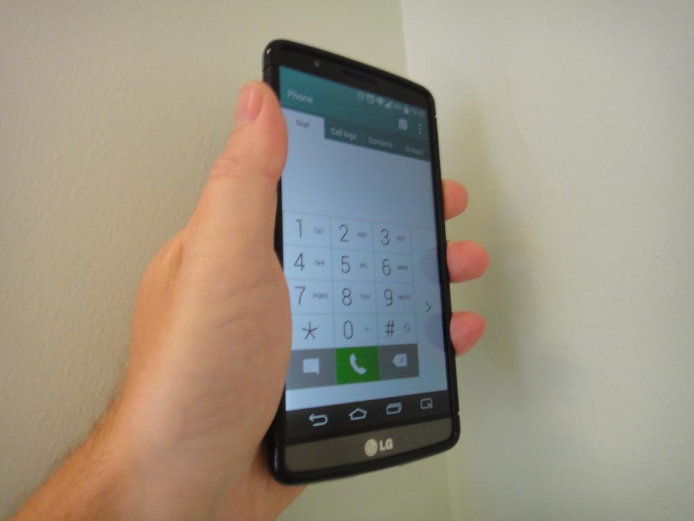 The LG G3 dialler