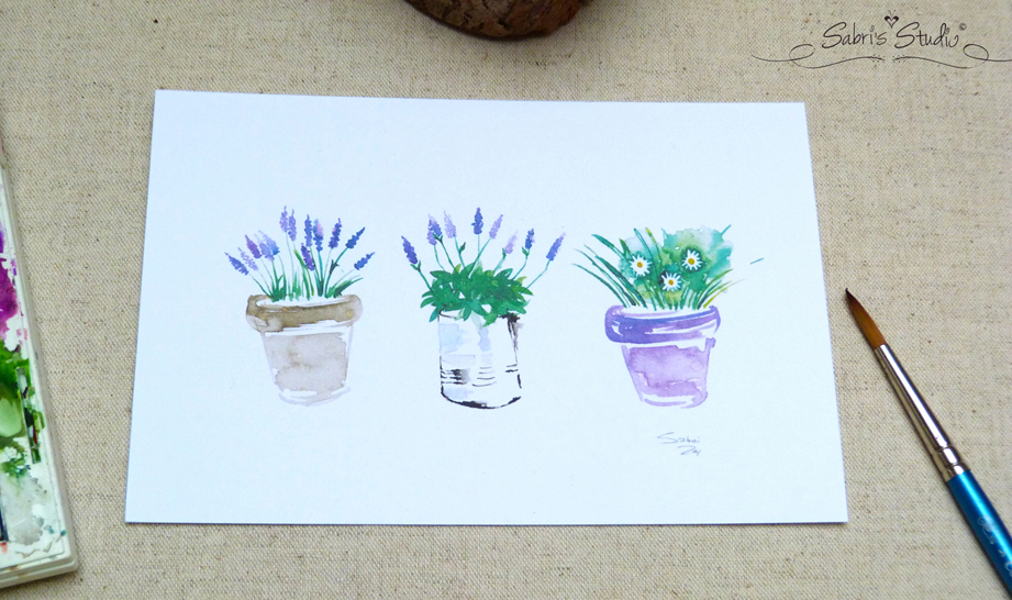 Lavender and Daisies watercolor print.jpg
