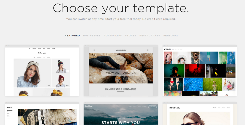 Squarespace don't offer thousands of templates, but would you want them to?