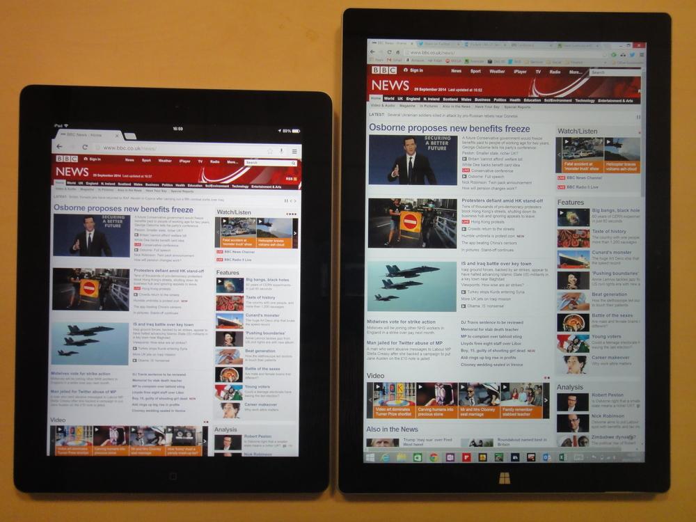 iPad Vs Surface 3