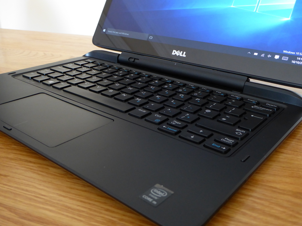When docked, the E7350 behaves like a larger ultrabook