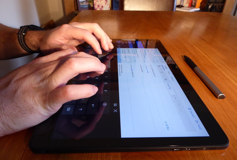 Larger touchscreen means larger keyboard and an immersive experience