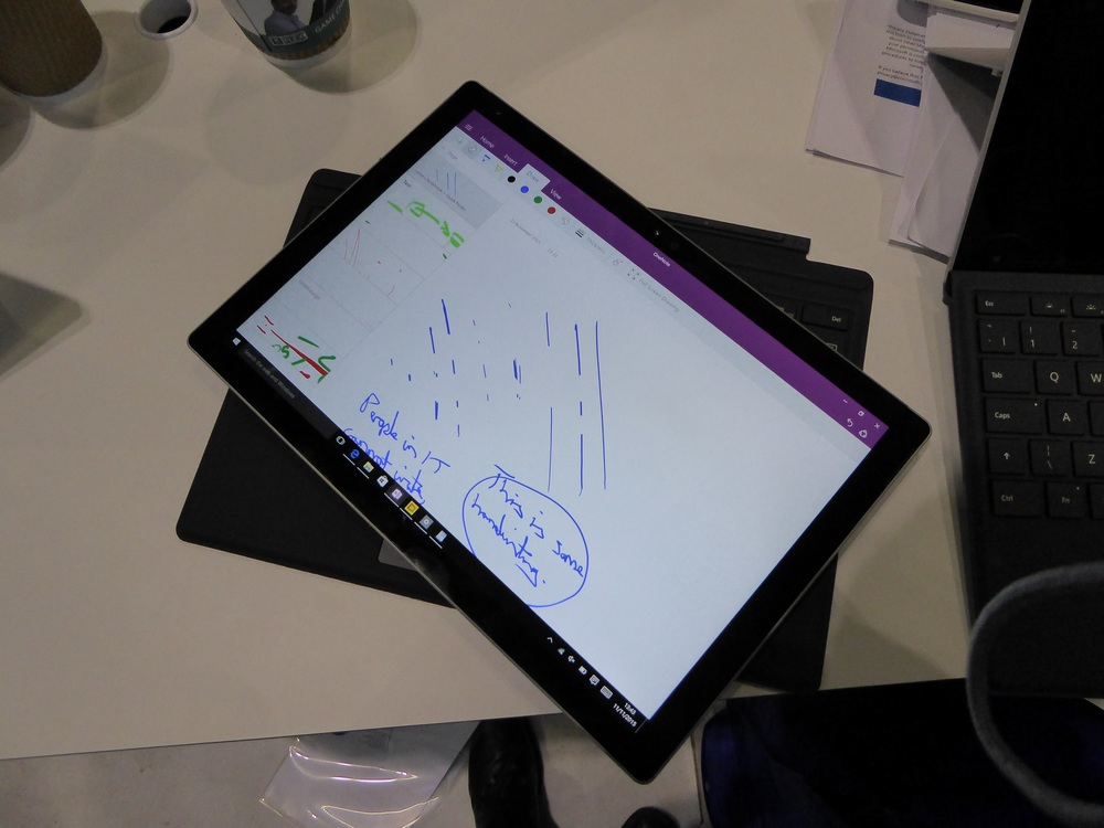I had a play with the new Surface Pro 4 at Microsoft's Future Decoded event. The stylus is the best I've used.
