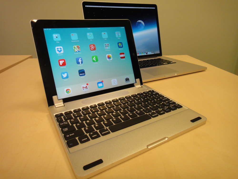 The Brydge+ turns an iPad into a MacBook Pro style device - a great keyboard!