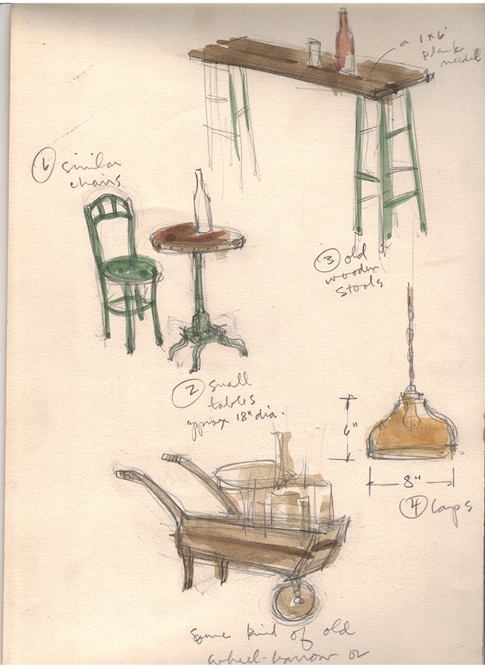 Prop Sketch, Phillip Jung.
