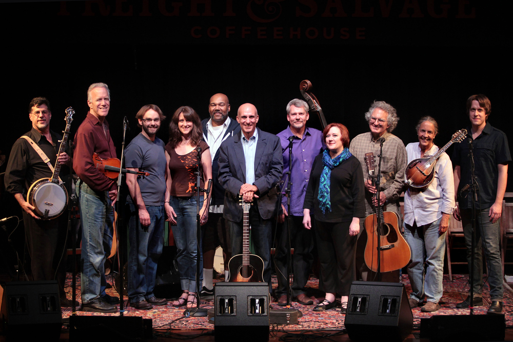 Freight & Salvage Company of  Woody Guthrie's American Song  with author Peter Glazer, center. July 2012. Photo by Ray Lopez