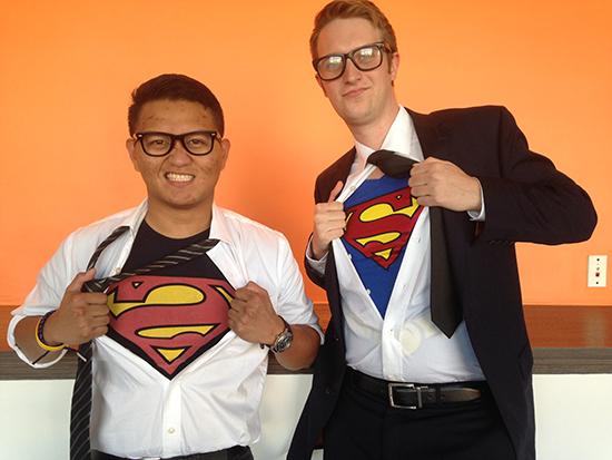Tom the good Superman vs MJ the evil Superman… total coincidence too.