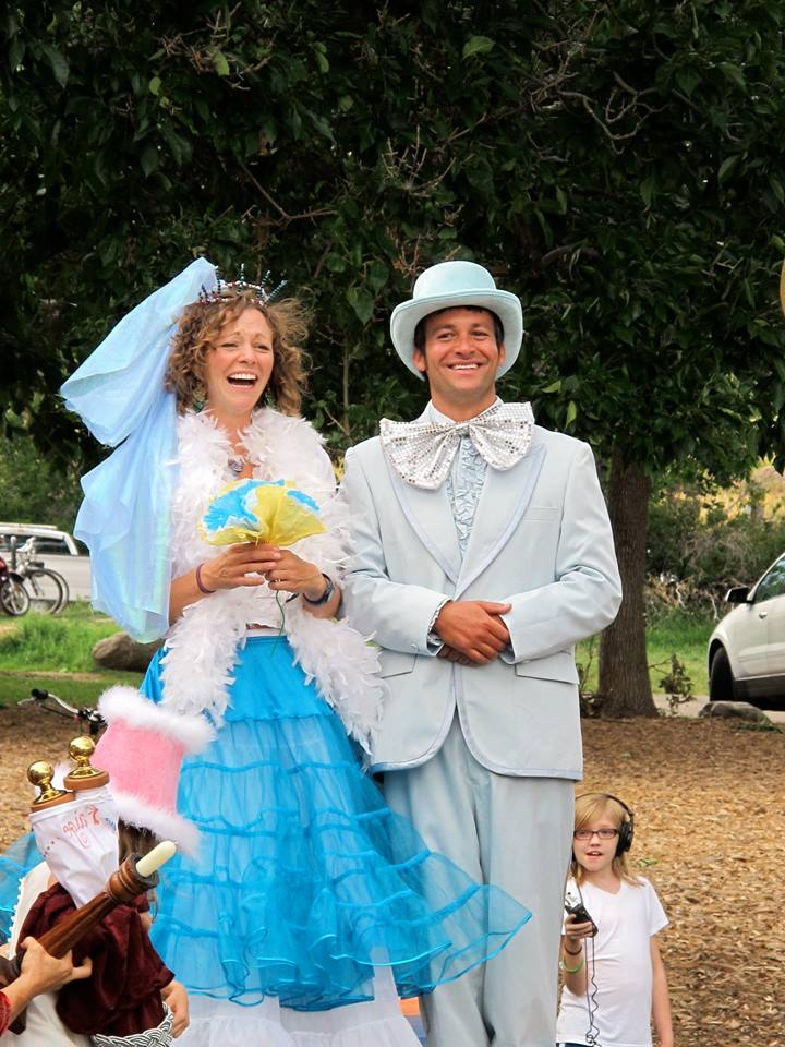 Jeff and Paige's Meadow Music Wedding in 2013, so everyone could be a flower girl/boy.