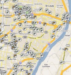 Geocaches in Saint Louis, MO.