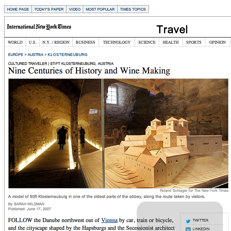 Nine Centuries of History and Wine Making