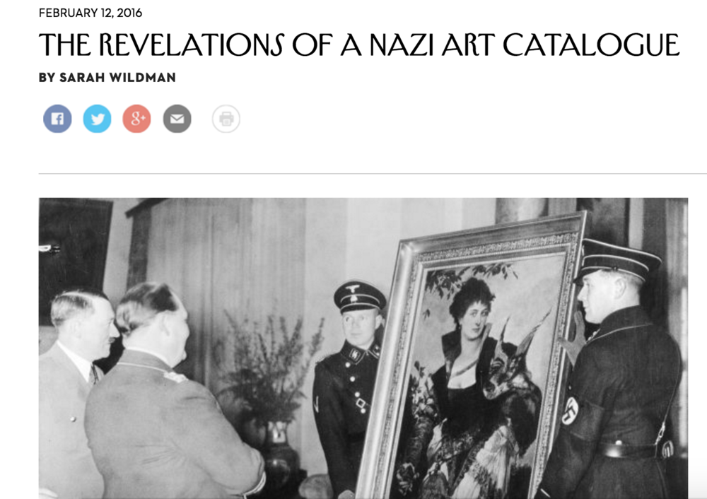 New Yorker: Hermann Göring's Art Catalogue