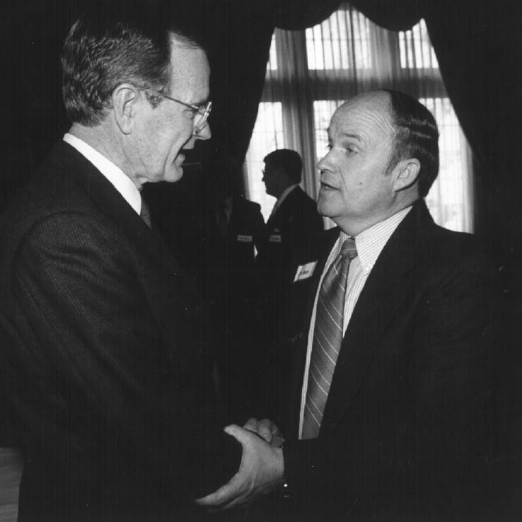 Dr. Dan Jones with President Bush Sr.