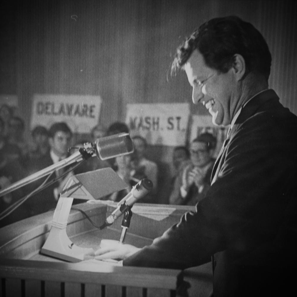 Senator Ted Kennedy speaks to U students (1968).