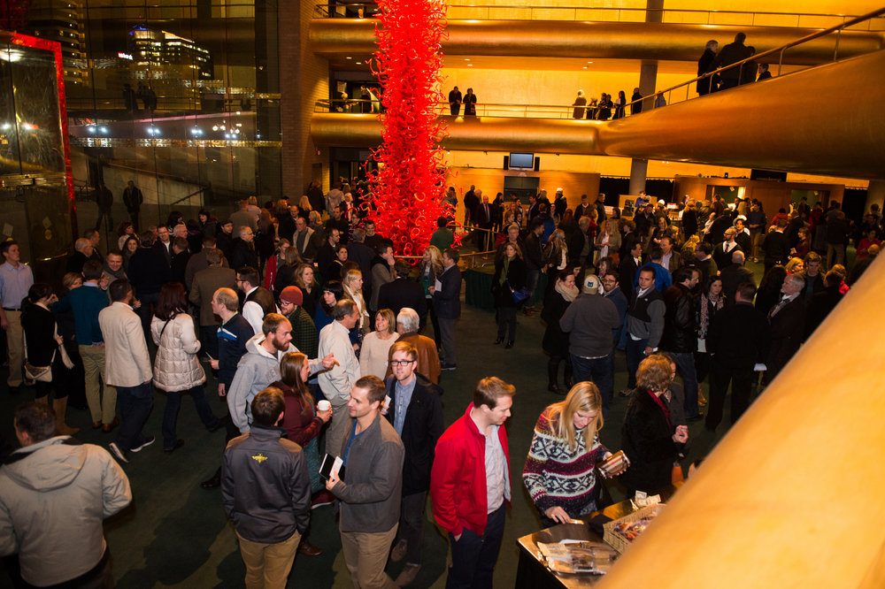 A sold-out crowd congregated for the inaugural Sam Rich Lecture at Abravanel Hall.