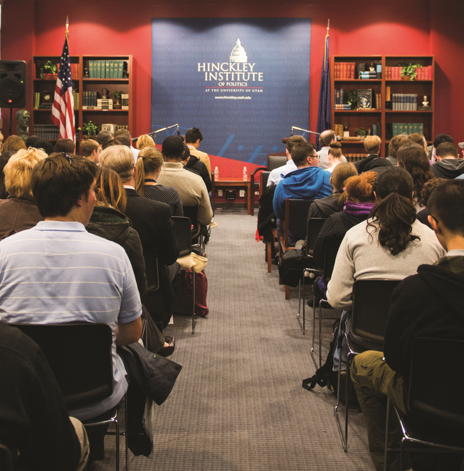 The Hinckley Institute hosts over 100   Hinckley Forums     each year   during fall and spring semesters with leading public officials, authors, and thinkers. They are free and open to the public.