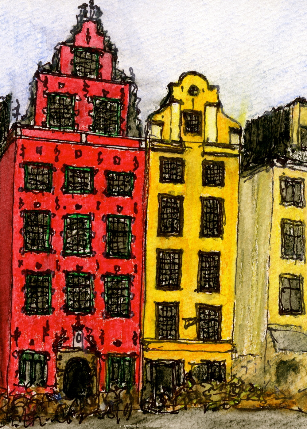 rowhouses old stockholm