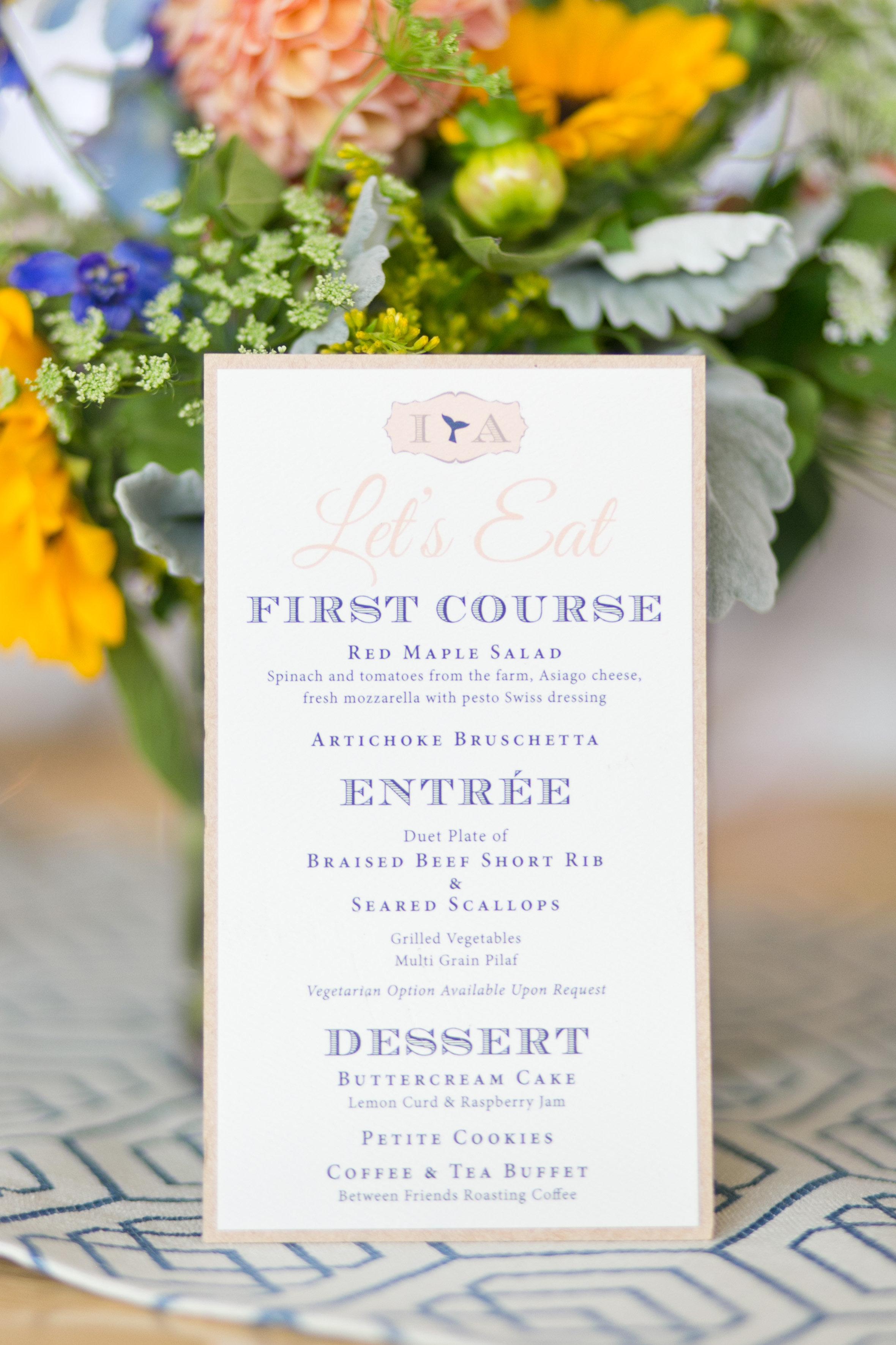 Dolphin Inspired Wedding Invitations — AMG Design Co.
