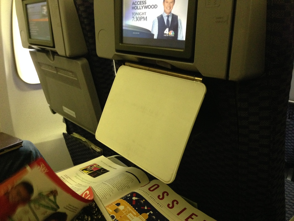 Designers noticed a great use case when studying passengers on a plane. The passengers were able able to use the fold down tray table for beverages, meals, or magazine browsing while the Loop iPad Case was hanging from tray table hook and the iPad was not taking up tray table space.